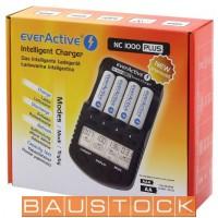 everActive NC 1000 Plus 4-kanālu Ni-MH viedais lādētājs (smart charger)