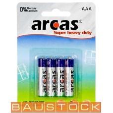 Arcas baterijas AAA LR03, 4 gab.