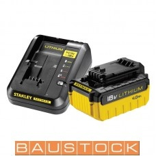 Akumulatoru lādētājs ar baterija SFM 4.0Ah Stanley